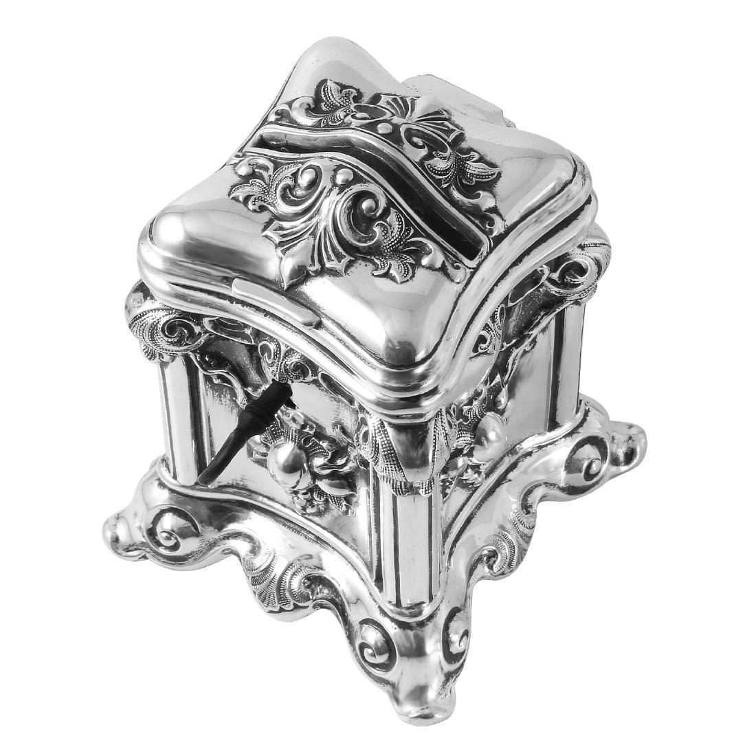 Antique Tzedakah Box Judaica, Sterling Hollowware - 3