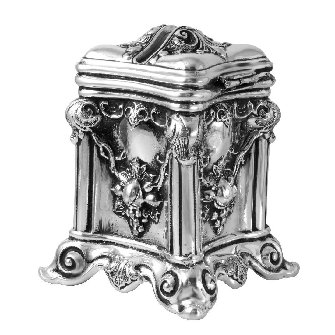 Antique Tzedakah Box Judaica, Sterling Hollowware - 5
