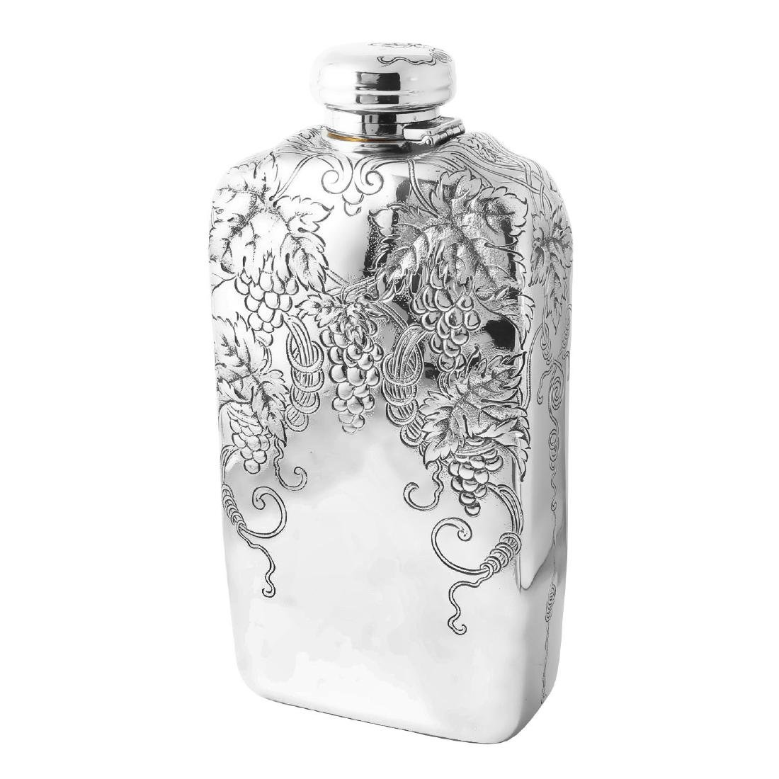 Tiffany & Co. Antique Sterling Silver Brandy Flask