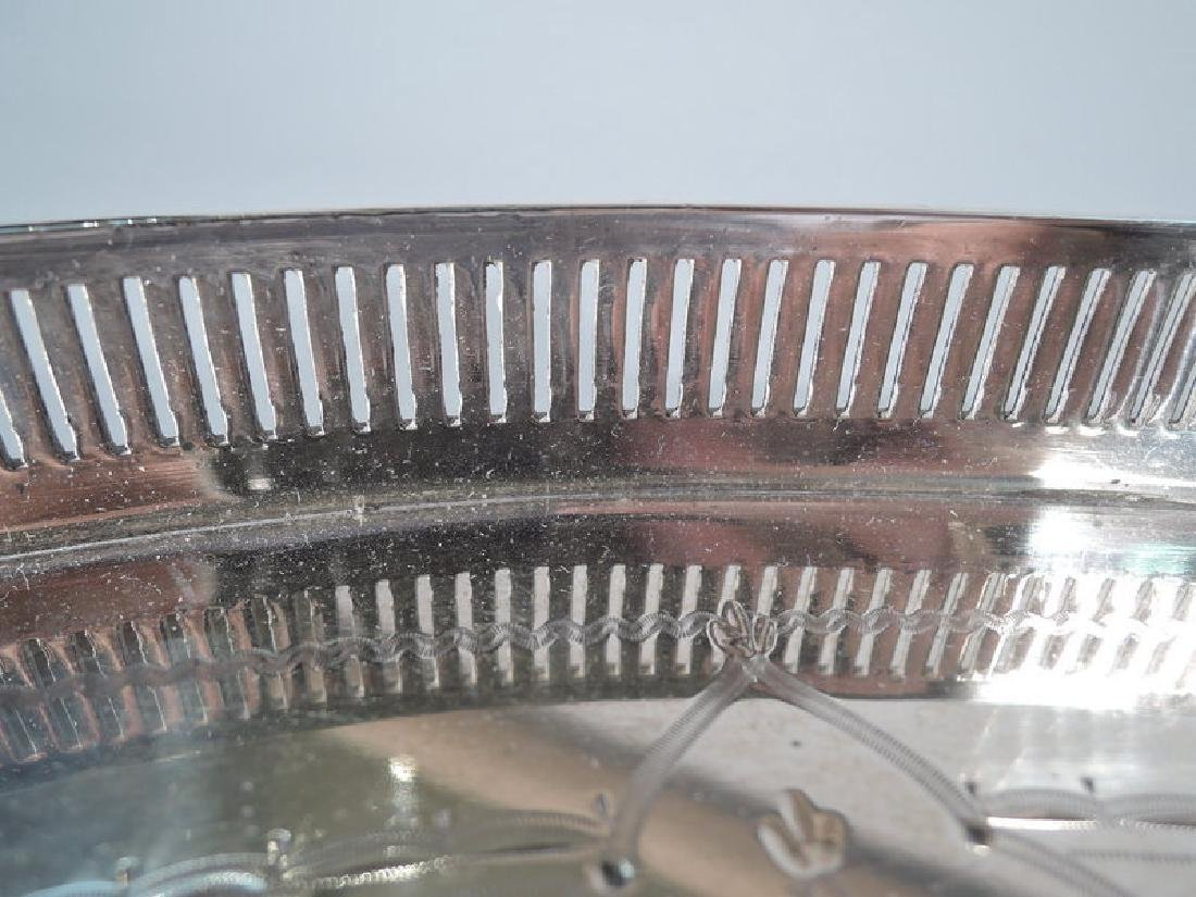 Antique English Aesthetic Sterling Silver Tea Tray - 6