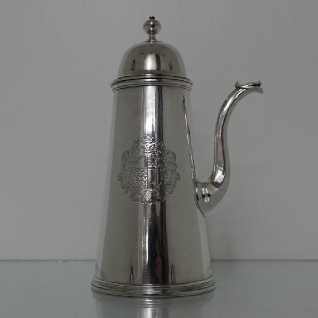 Queen Anne Silver Chocolate Pot Simon Pantin