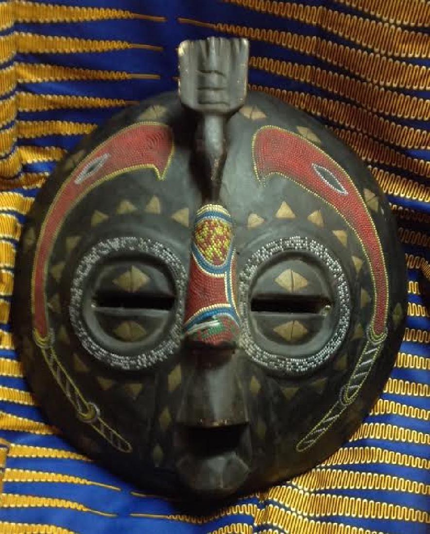 African Tribal Ceremonial Benin Beaded Mask
