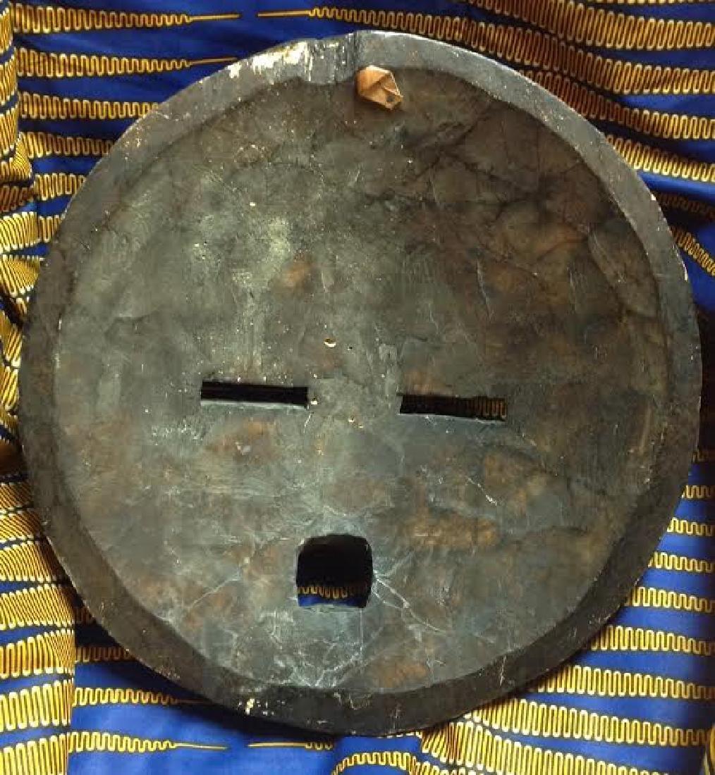 African Tribal Ceremonial Benin Beaded Mask - 5