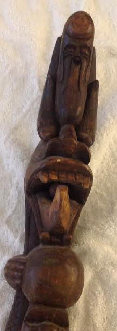 African Tribal Ceremonial Staff - 4
