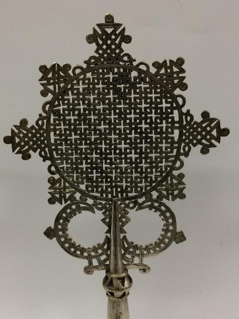 White Metal Coptic Processional Cross - 2