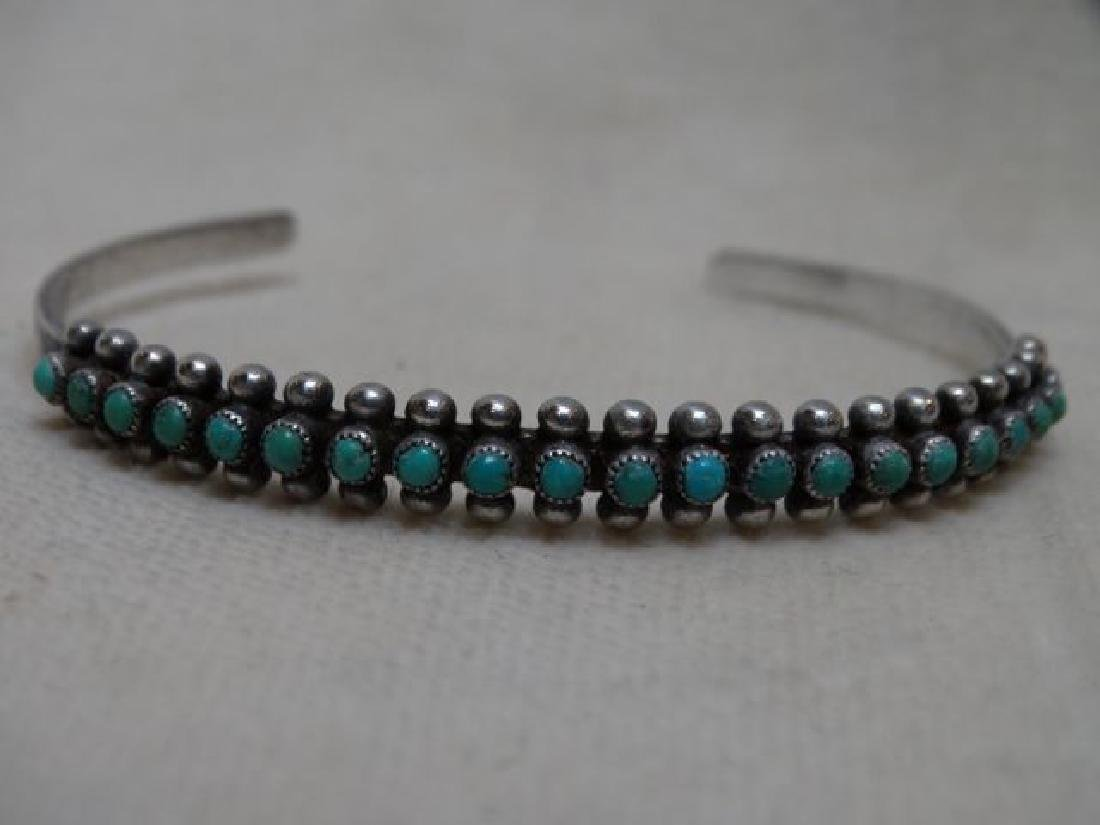 Silver & Turquoise Zuni Bracelet