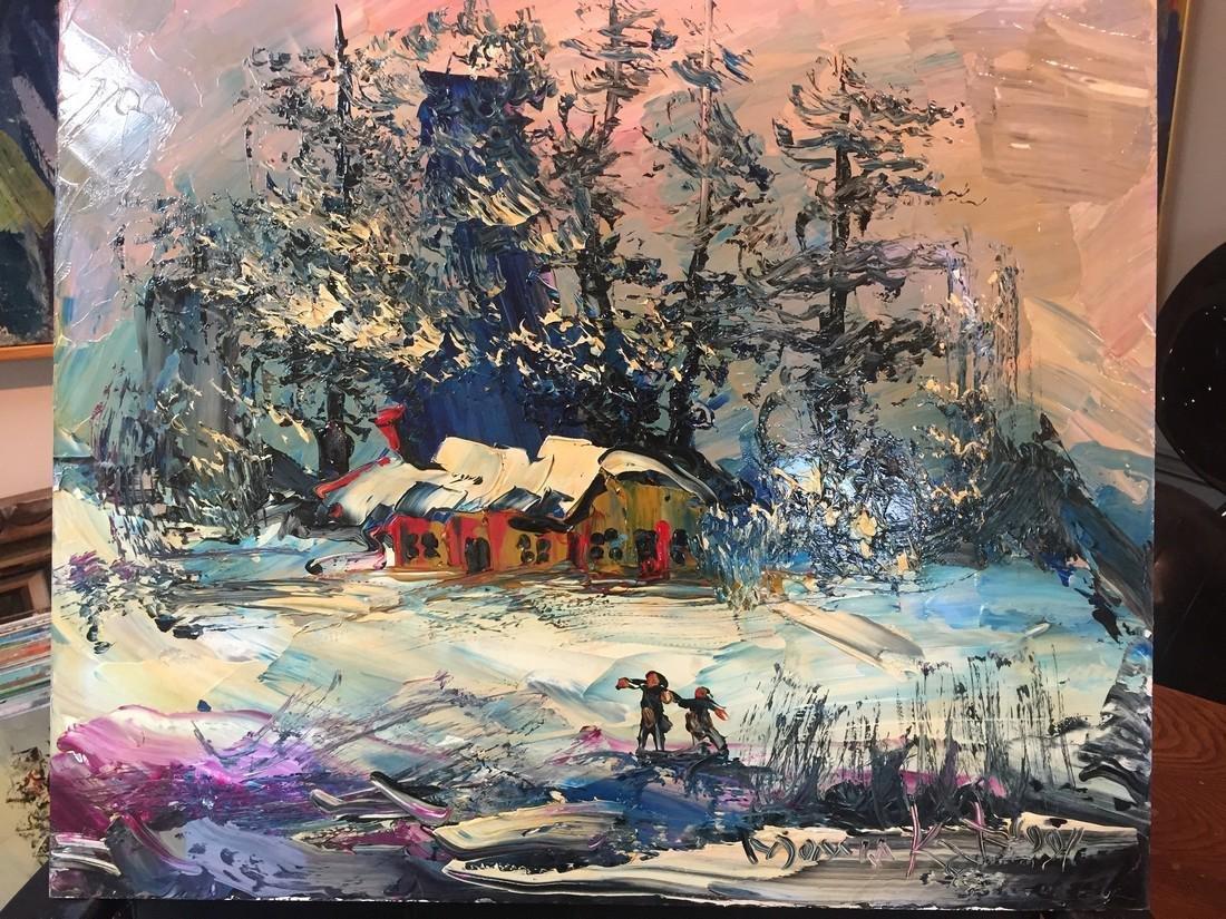 Morris Katz: Snow Landscape, 1991