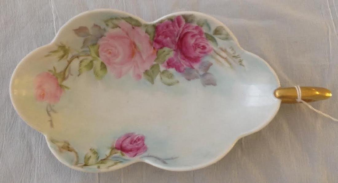 Signed M Haas Victorian Tray with Handle - 2