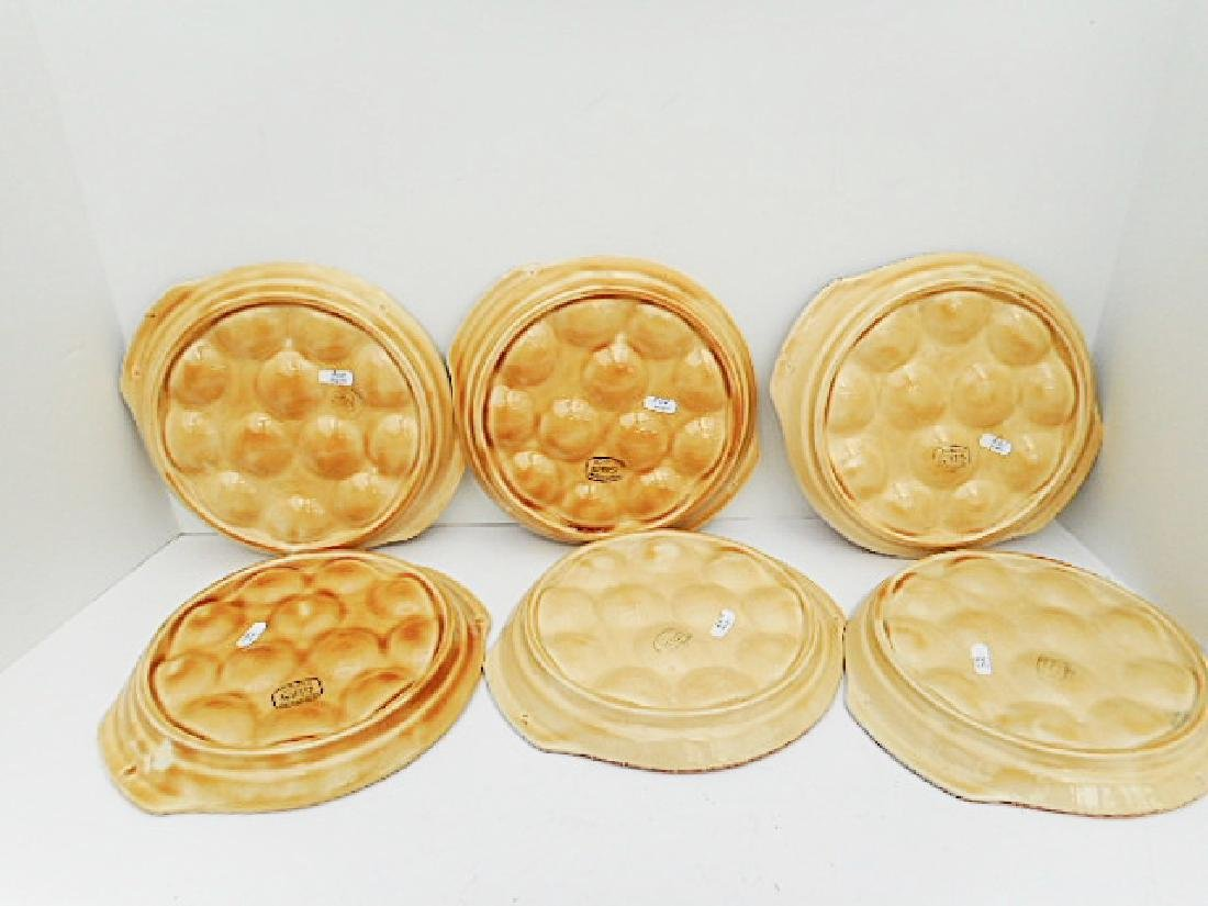Set of 6 Gien Porcelain Escargot Plates - 4