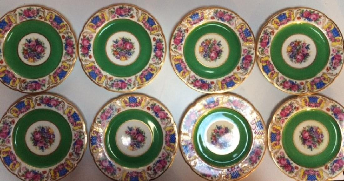 8 Black Knight Porcelain Plates