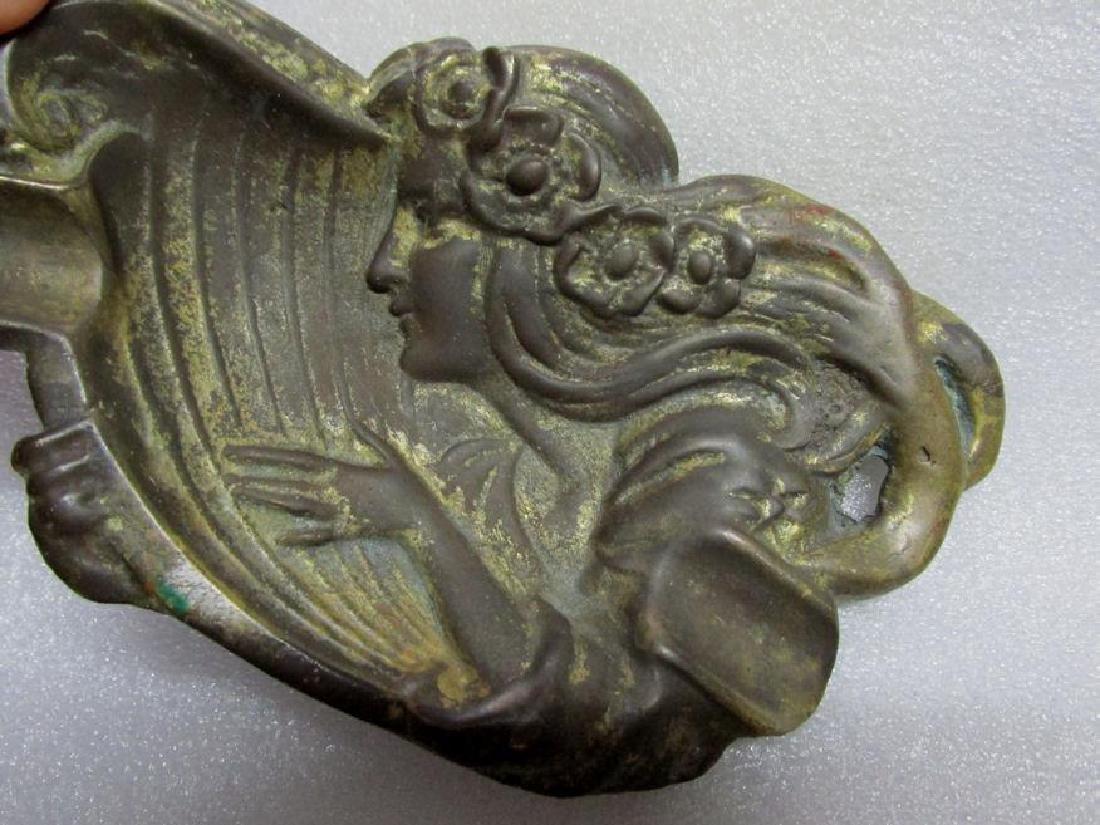 Art Nouveau Bronze Cigar Tray, Advertising Premium - 3