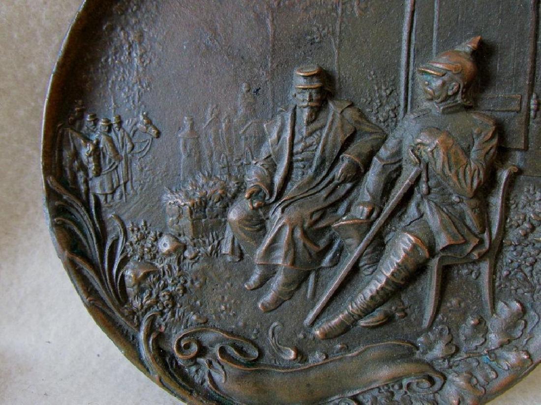 Bronze Plaque Napoleon III Chancellor Otto Von Bismarck - 3