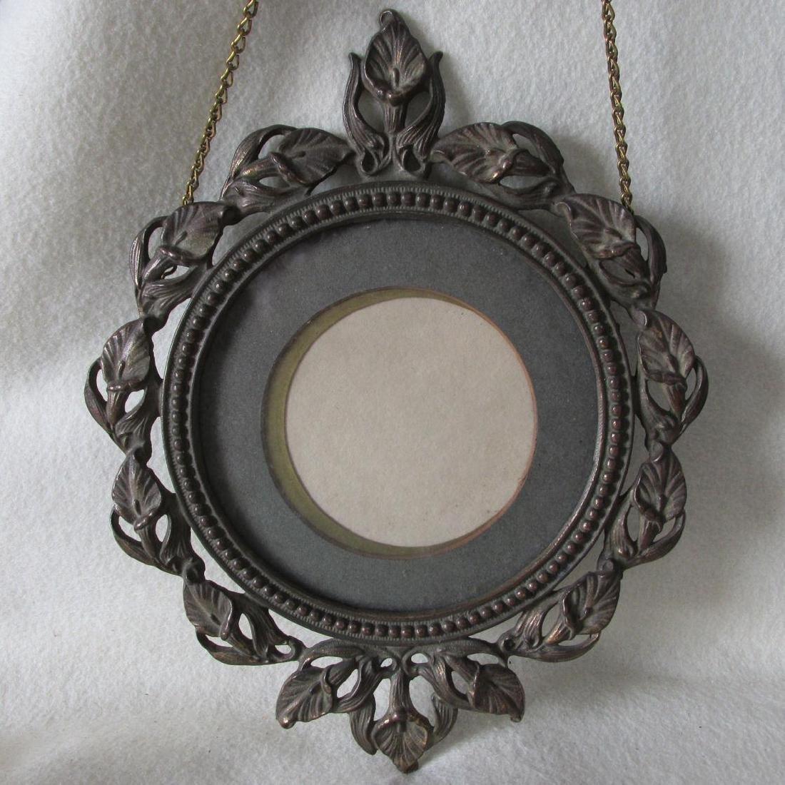 Antique Art Nouveau Hanging Picture Frame - 2