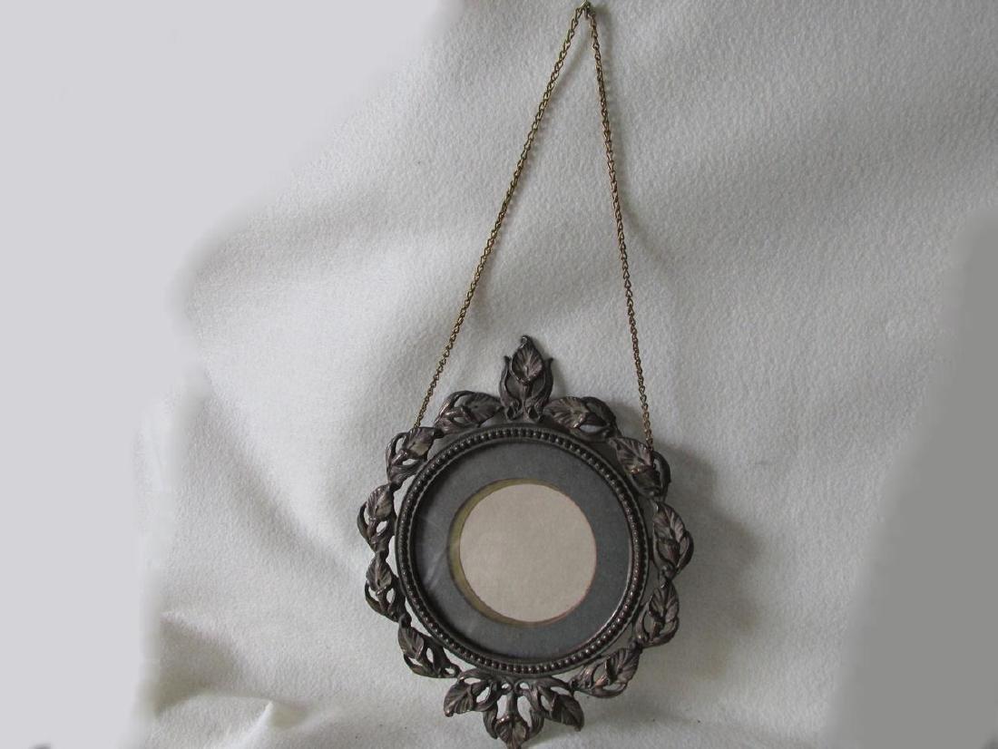 Antique Art Nouveau Hanging Picture Frame - 3