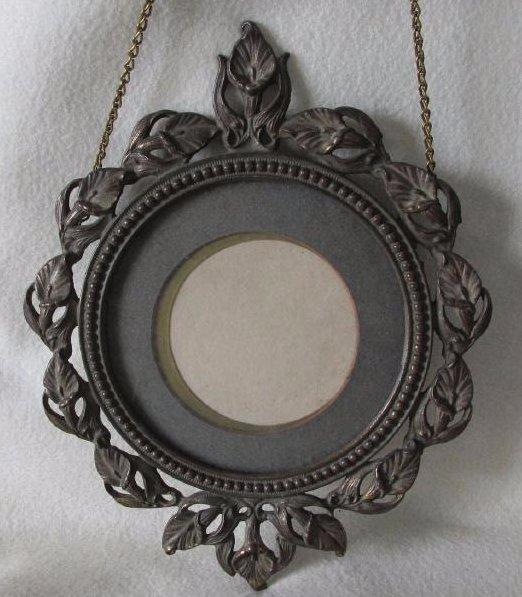 Antique Art Nouveau Hanging Picture Frame - 4