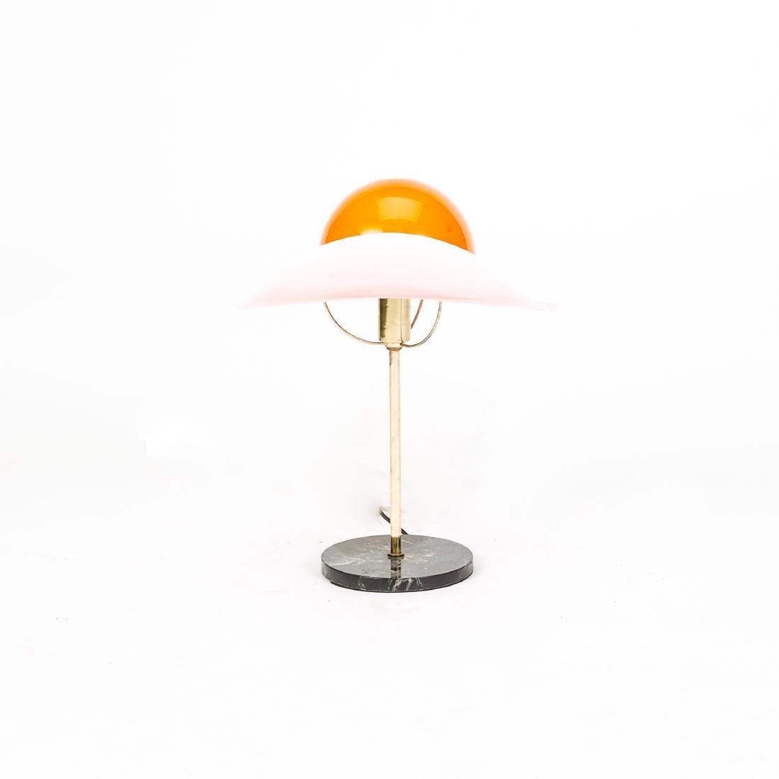 Mid-Century Orange Murano Glass Hat Lamp - 3