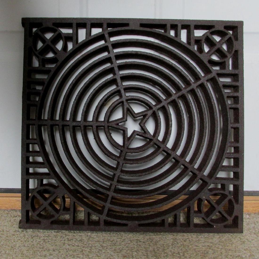 Antique Architectural Element, Cast Iron Grate - 2