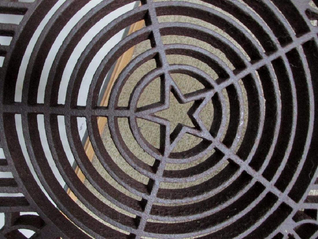 Antique Architectural Element, Cast Iron Grate - 4