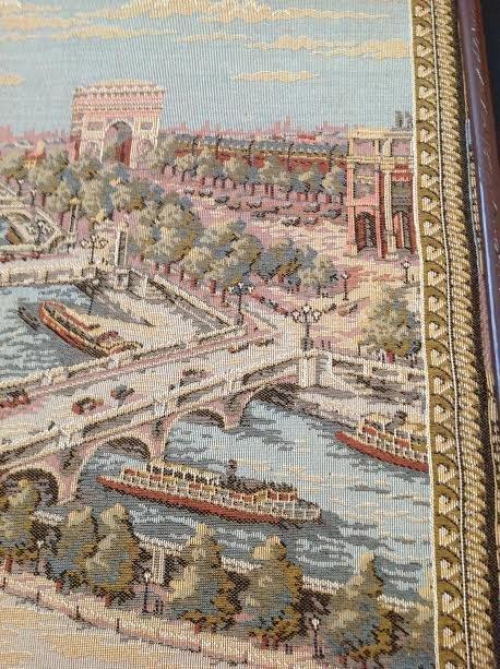 Vintage Framed Map of Paris Tapestry - 3