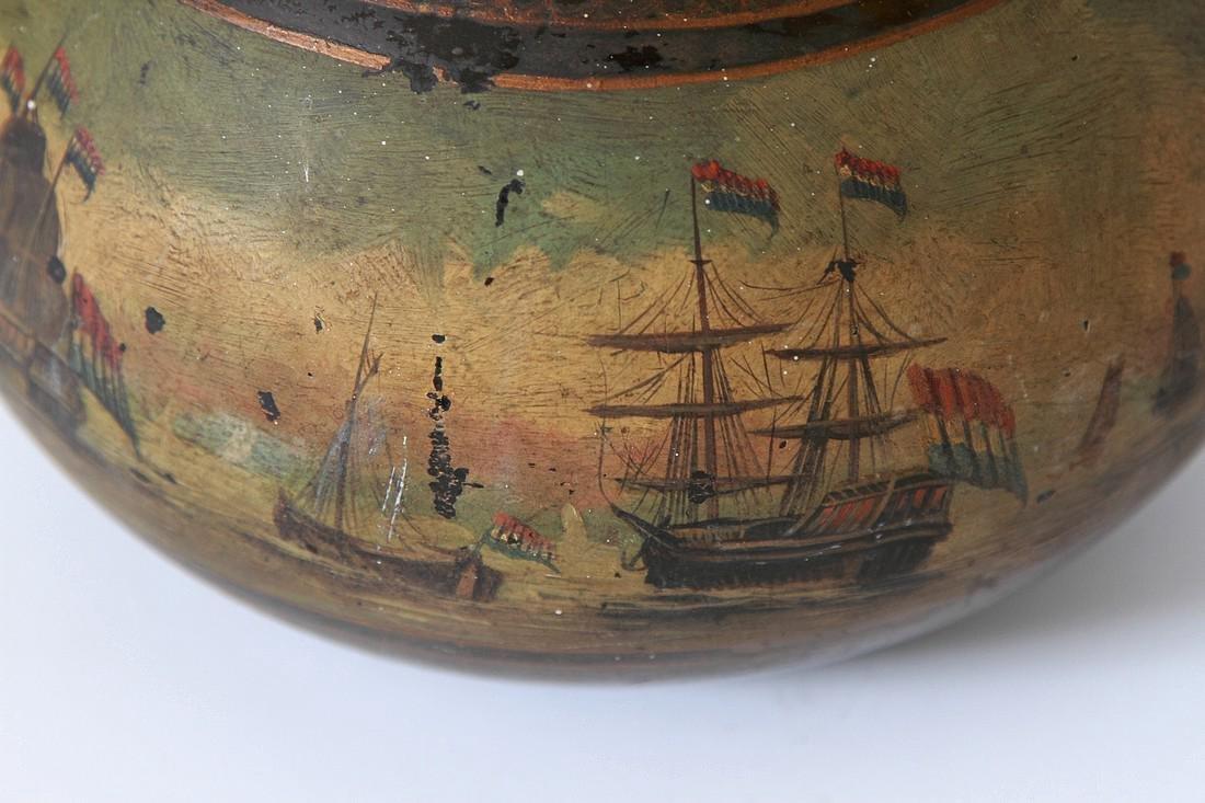 Antique English Painted Onion Wine Bottle - 6