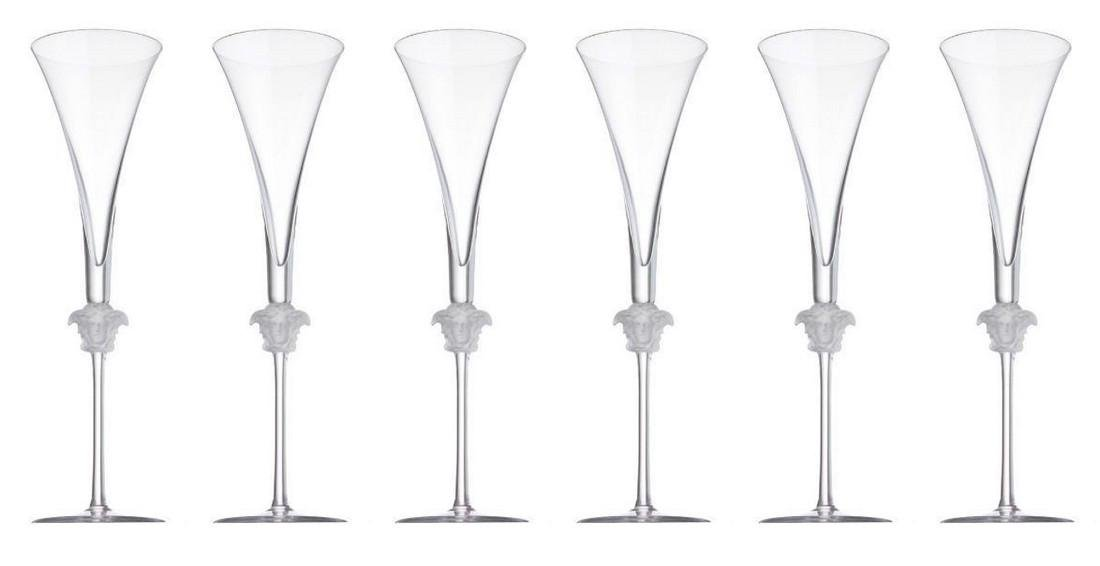 Set of 6 Rosenthal / Versace Lumiere Champagne Glasses