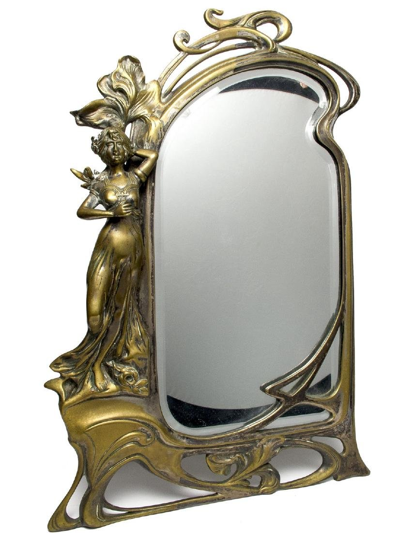 Antique Art Nouveau Mirror