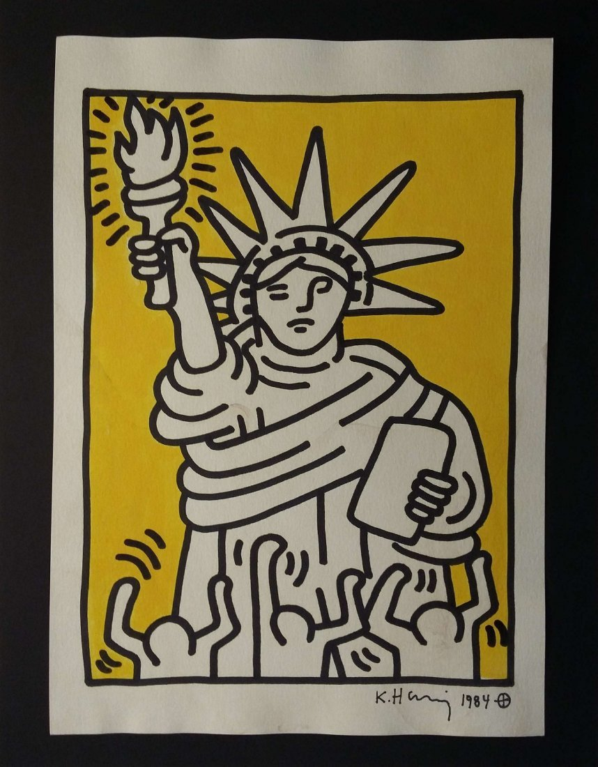 Keith Haring: The Statue of Liberty, signed