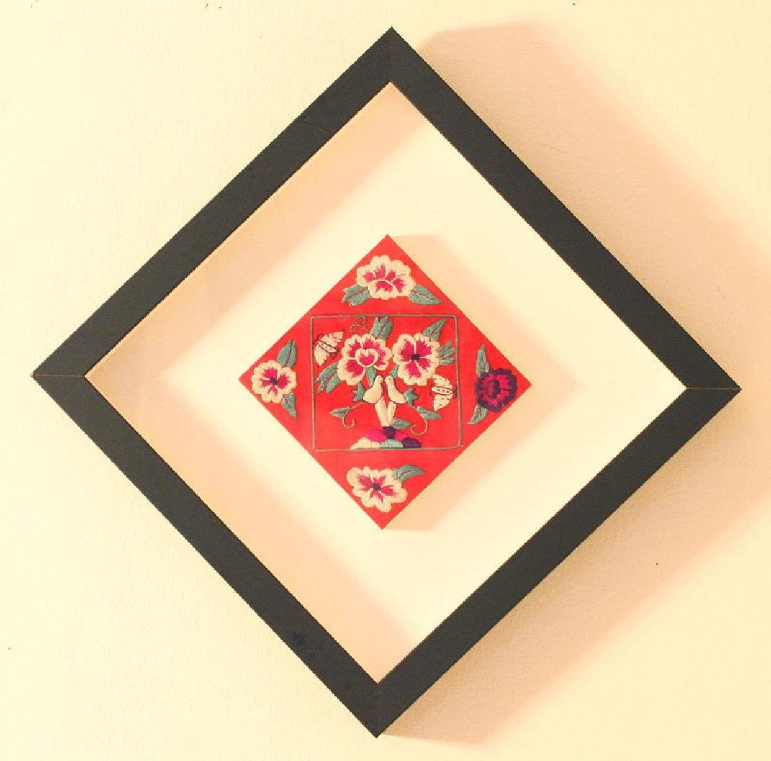 Korean Embroidered Pillow End with Symbols of Love