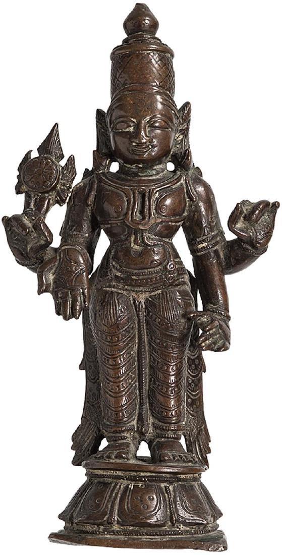 South Indian Bronze Vishnu