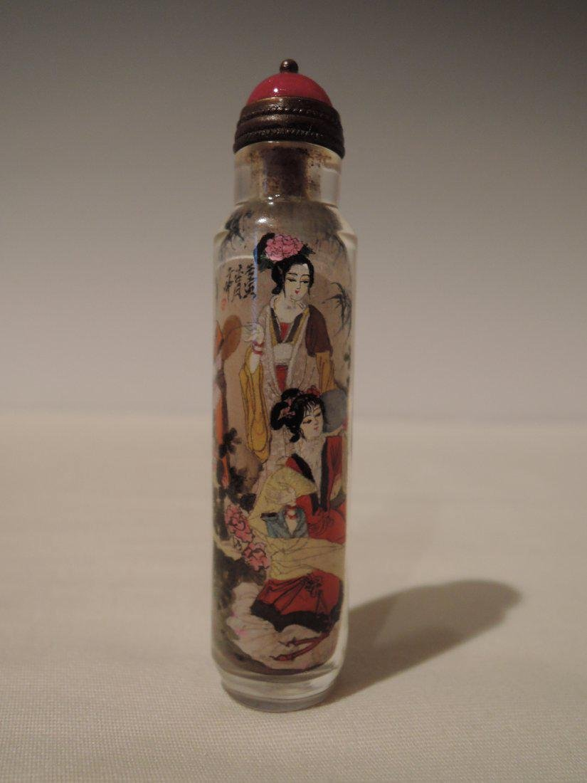 Chinese Qing Dynasty Inside Painted Glass Snuff Bottle