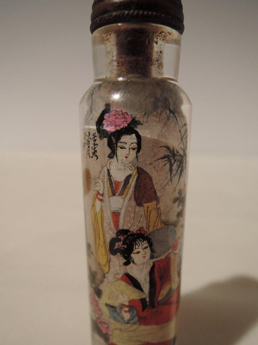 Chinese Qing Dynasty Inside Painted Glass Snuff Bottle - 4