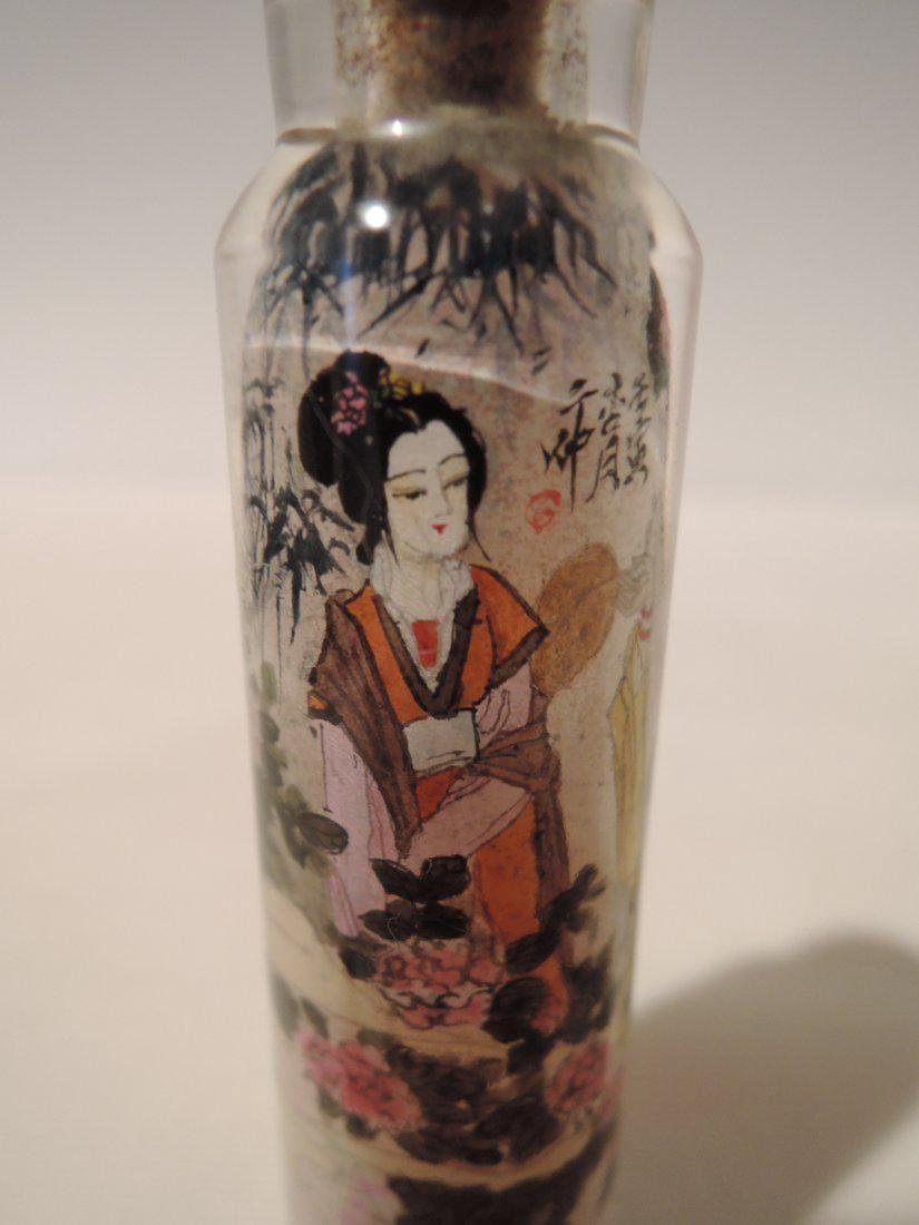 Chinese Qing Dynasty Inside Painted Glass Snuff Bottle - 5