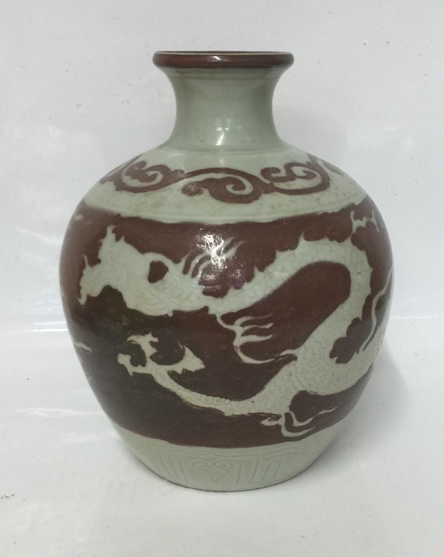 Chinese Underglaze Red Vase