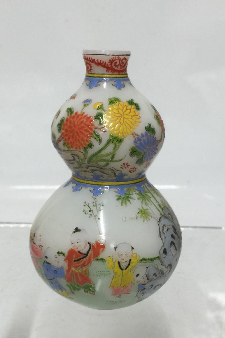 Chinese Enamel Glass Double Gourd. Guyuexuan.