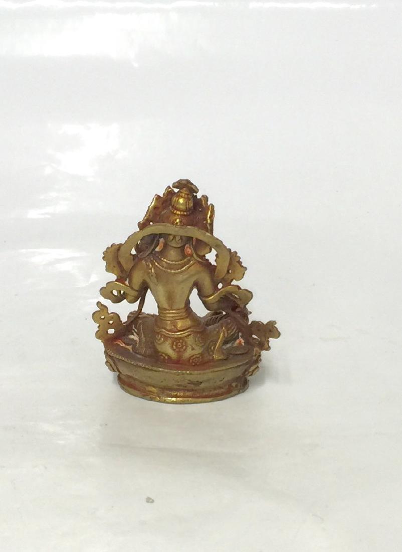 Chinese Old Bronze Buddha - 3
