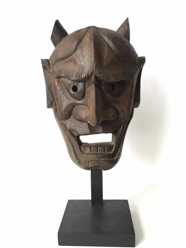 Wood Oni Mask, Japan, Meiji, ca. 1900