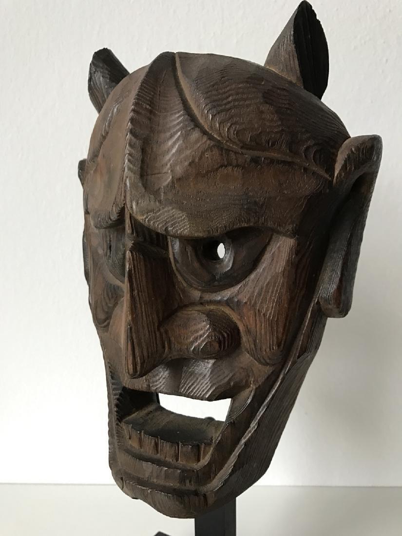 Wood Oni Mask, Japan, Meiji, ca. 1900 - 2