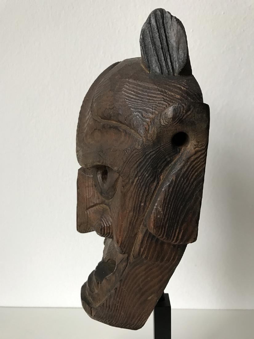 Wood Oni Mask, Japan, Meiji, ca. 1900 - 3