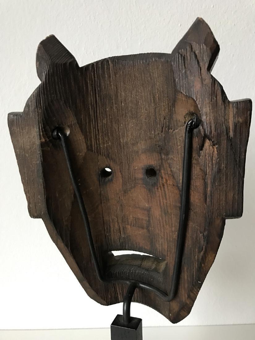 Wood Oni Mask, Japan, Meiji, ca. 1900 - 4