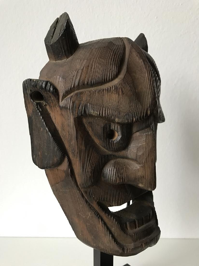 Wood Oni Mask, Japan, Meiji, ca. 1900 - 5