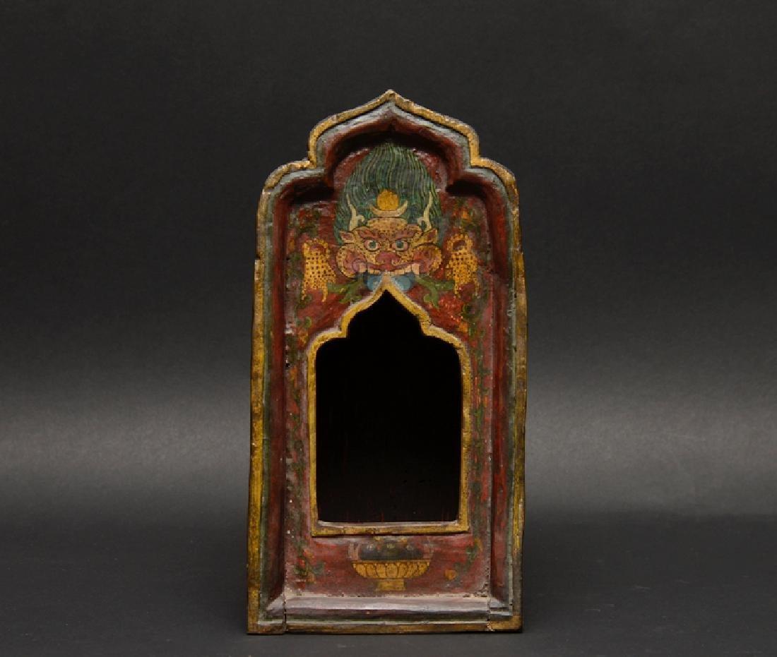 Antique Tibetan Wooden Ghau