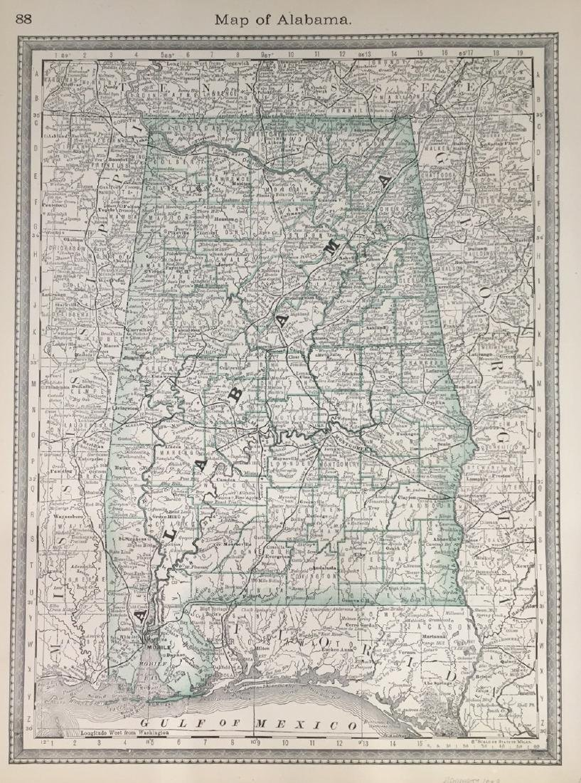 Map of Alabama by Hardesty