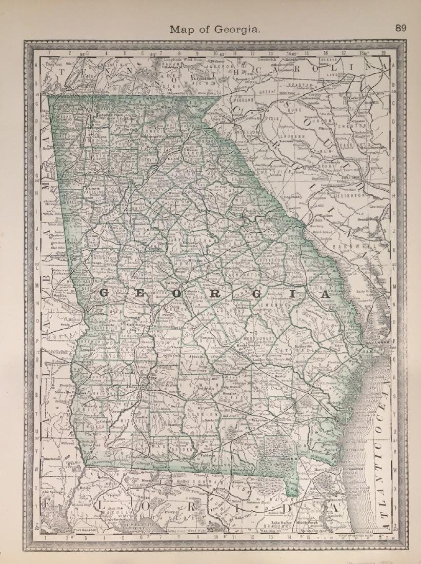 Map of Georgia by Hardesty