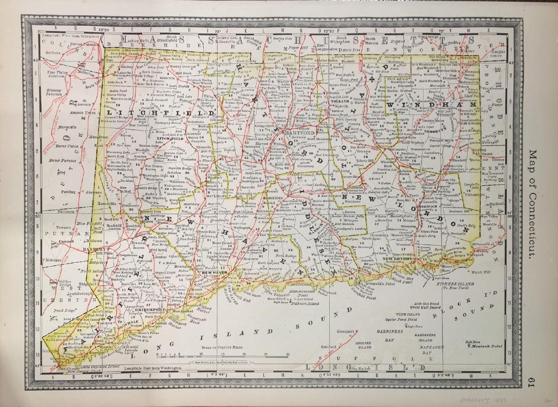 Map of Conneticut by Hardesty