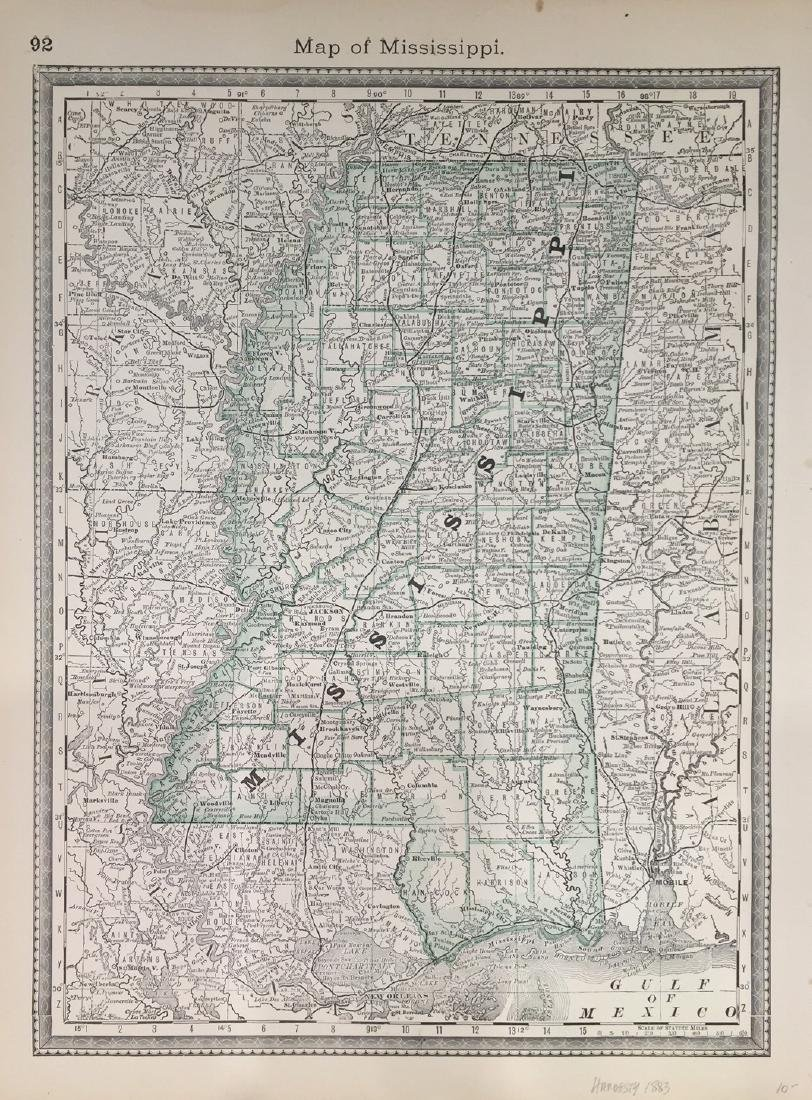 Map of Mississippi by Hardesty