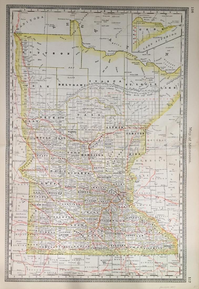Map of Minnesota by Hardesty