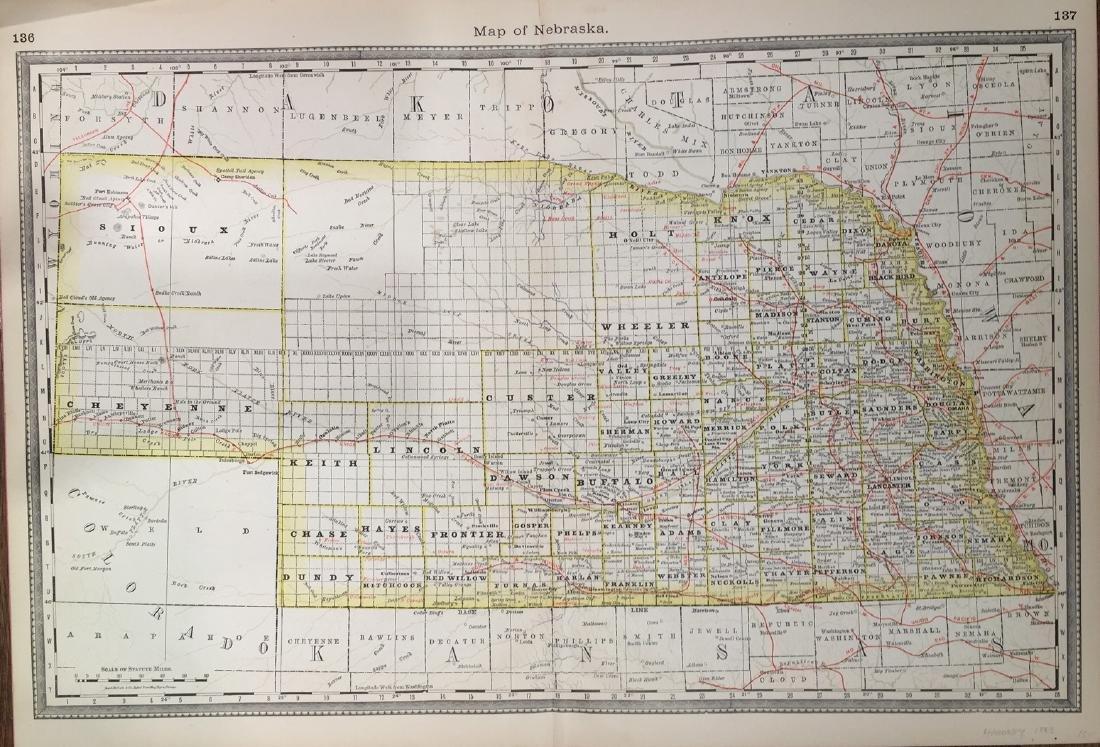 Map of Nebraska by Hardesty