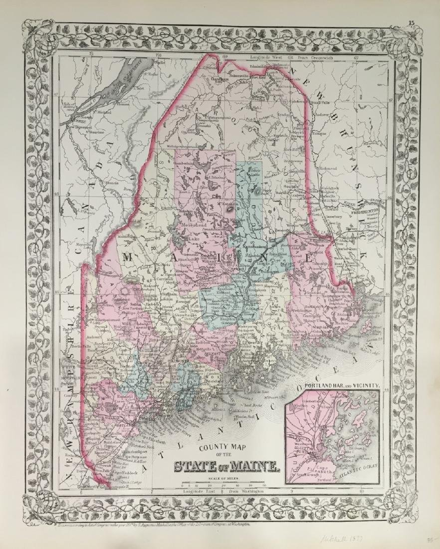 County Map of the State of Maine by S. Augustus
