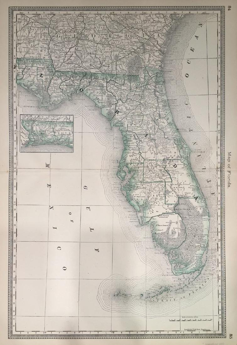Map of Florida by Hardesty