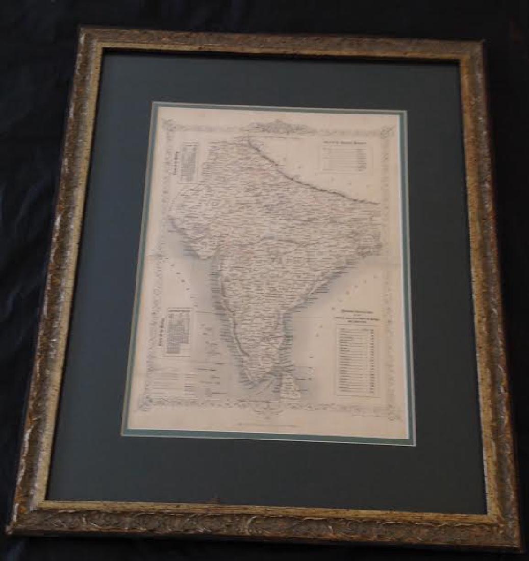 J Rapkin - Antique Map of British India